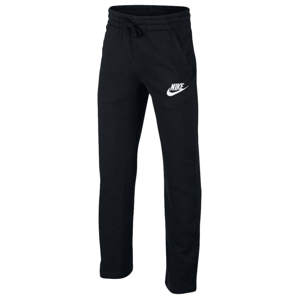 NIKE Big Boys' NSW Club Fleece OH Pants - BLACK/WHITE-010