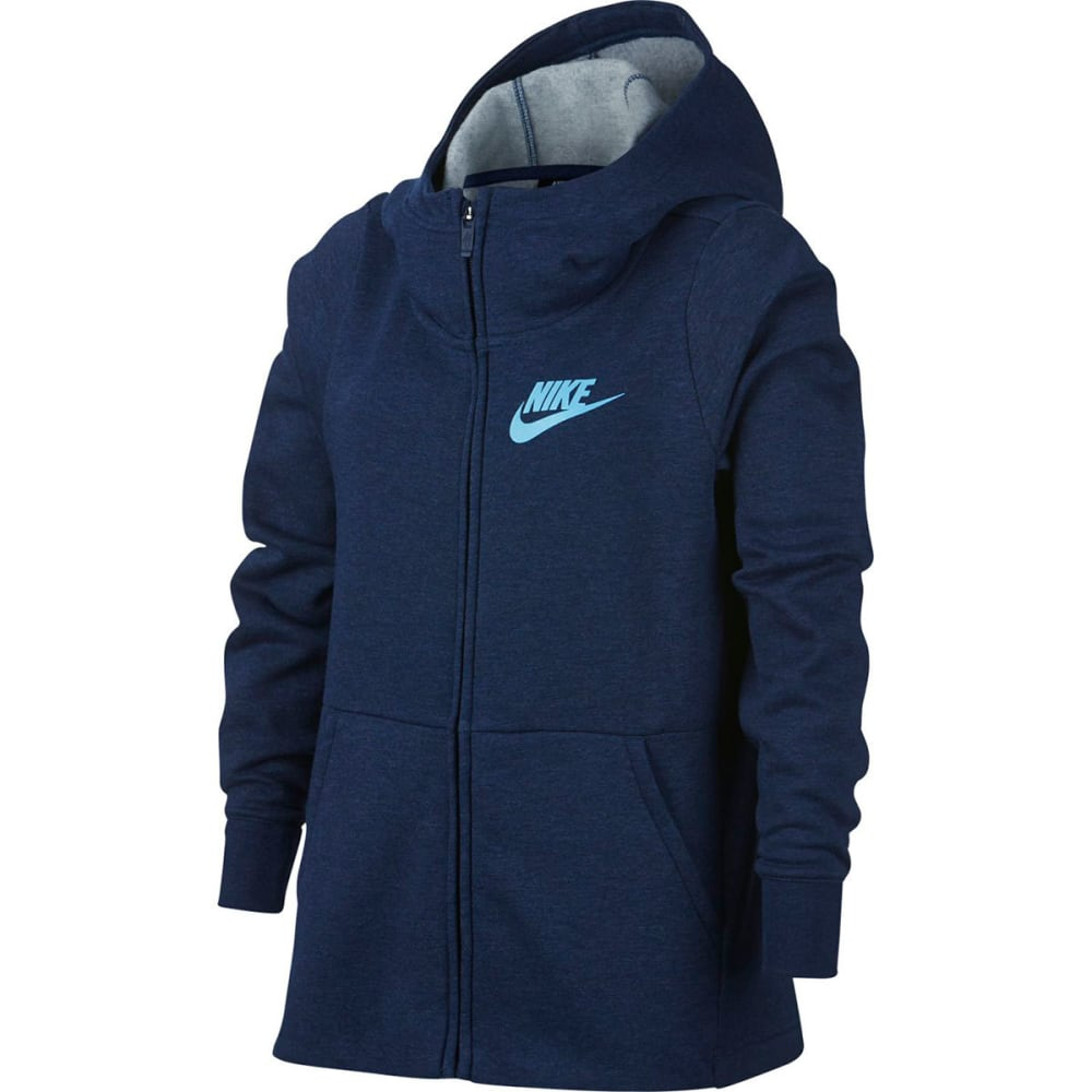 NIKE Big Girls' NSW Full-Zip Hoodie S