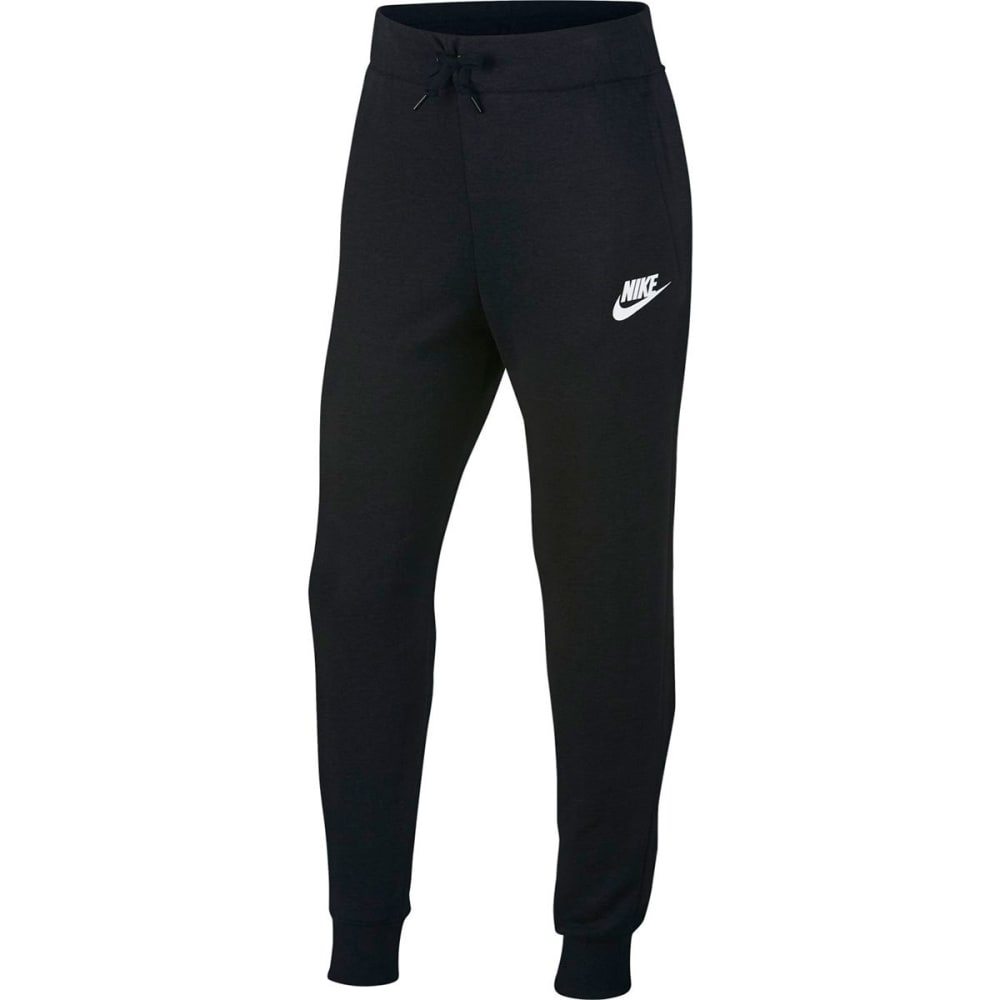 NIKE Big Girls' Sportswear Pants - BLACK/WHITE-010
