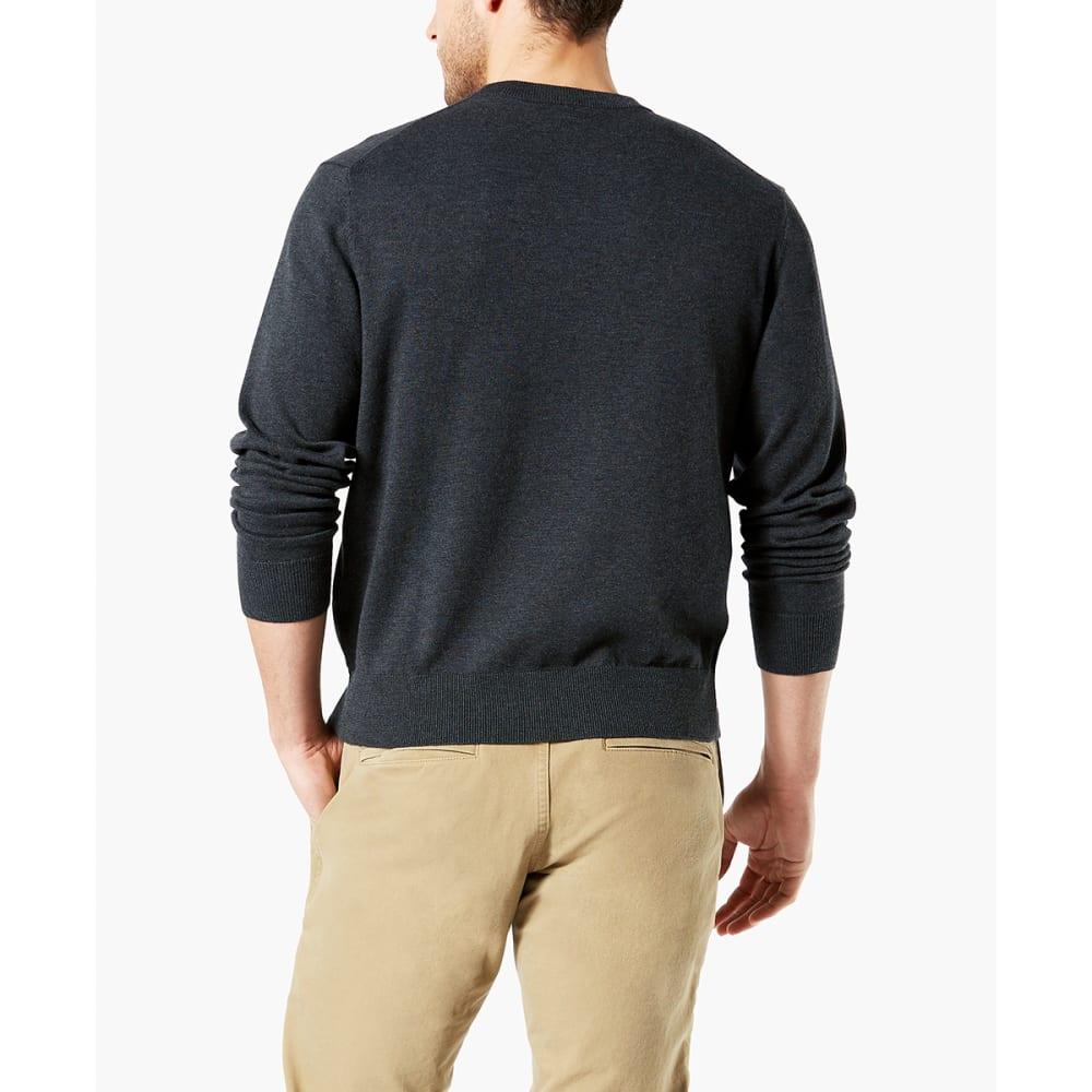 DOCKERS Men's Cotton Crewneck Long-Sleeve Sweater - BLACKBRIQUETTE/0011