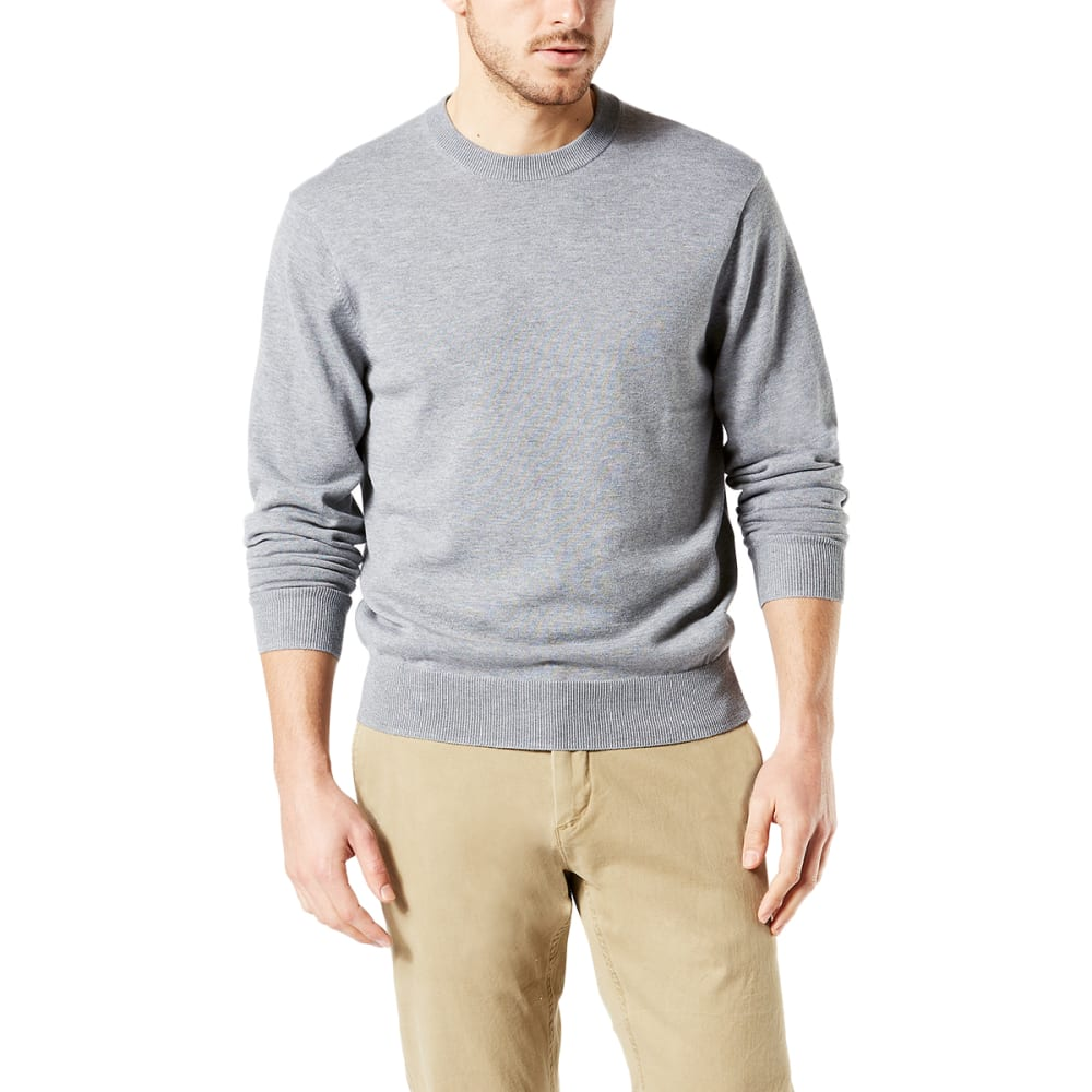 DOCKERS Men's Cotton Crewneck Long-Sleeve Sweater - ALUM HEATHER/0010