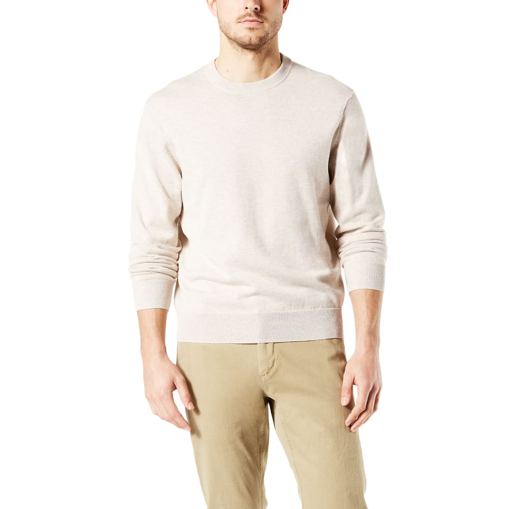 DOCKERS Men's Cotton Crewneck Long-Sleeve Sweater - OAK HEATHER/0000
