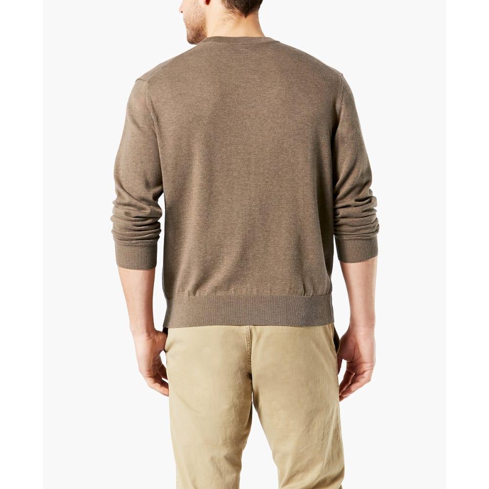DOCKERS Men's Cotton Crewneck Long-Sleeve Sweater - TOBACCO HEATHER/0001