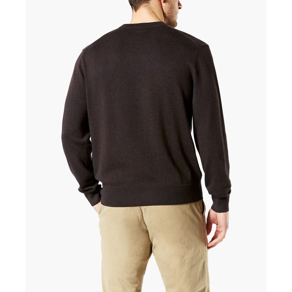 DOCKERS Men's Cotton Crewneck Long-Sleeve Sweater - MOLE HEATHER/0002