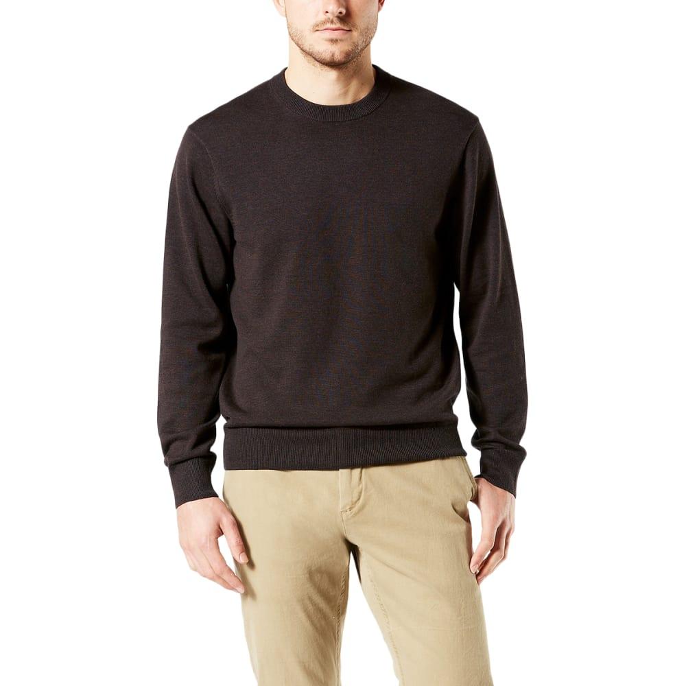 DOCKERS Men's Cotton Crewneck Long-Sleeve Sweater - MOLE HEATHER/0002