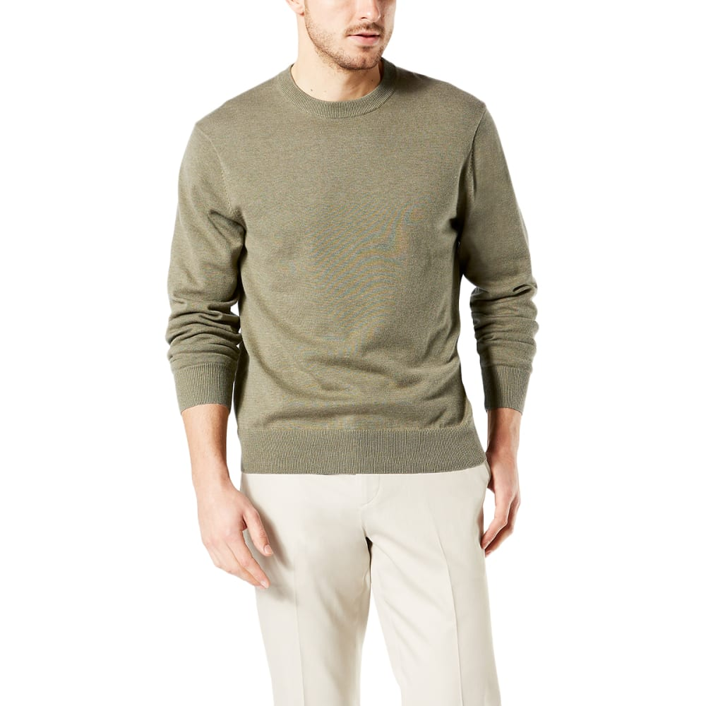 DOCKERS Men's Cotton Crewneck Long-Sleeve Sweater - VETIVER HEATHER/0007