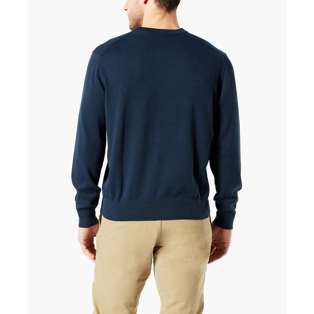 DOCKERS Men's Cotton Crewneck Long-Sleeve Sweater - NAVY HEATHER/0006