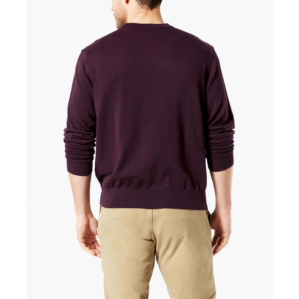 DOCKERS Men's Cotton Crewneck Long-Sleeve Sweater - WINETASTING/0004