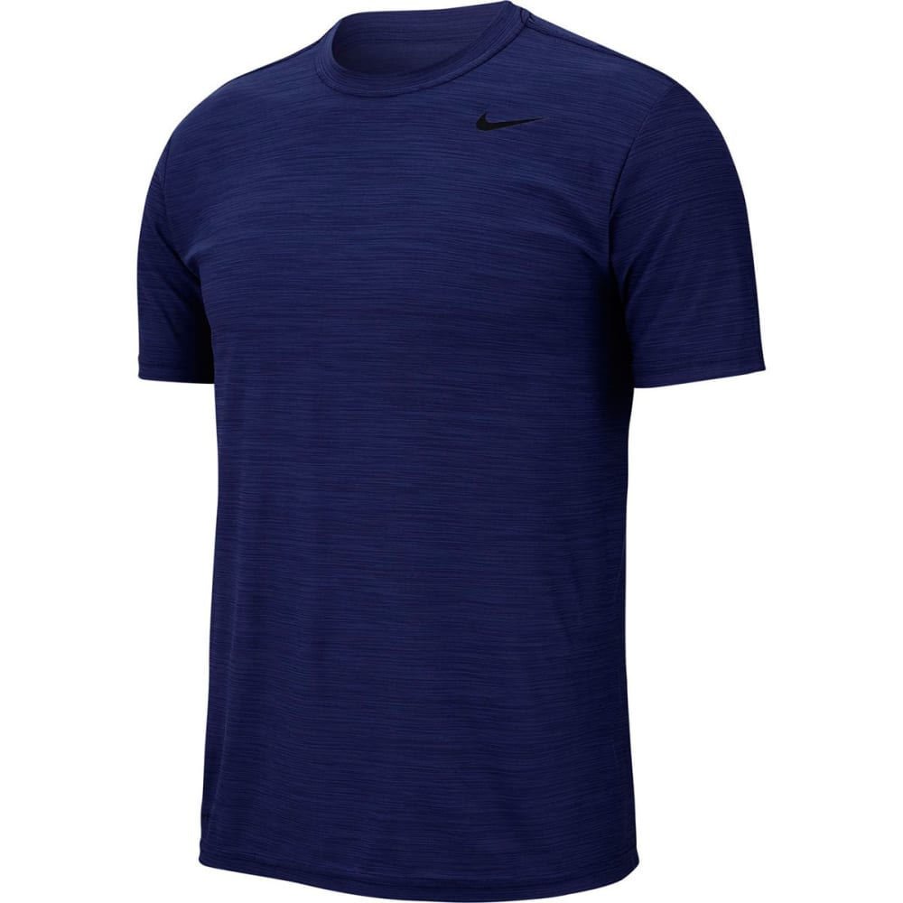 NIKE Men's Breathe Short-Sleeve Training Top - BLUE VOID-492
