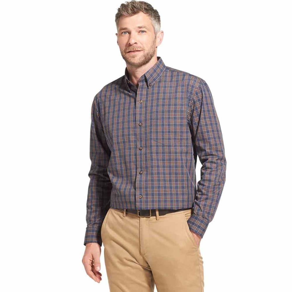 ARROW Men's Blazer Plaid Poplin Woven Long-Sleeve Shirt - NAVYBLAZERHTR -421