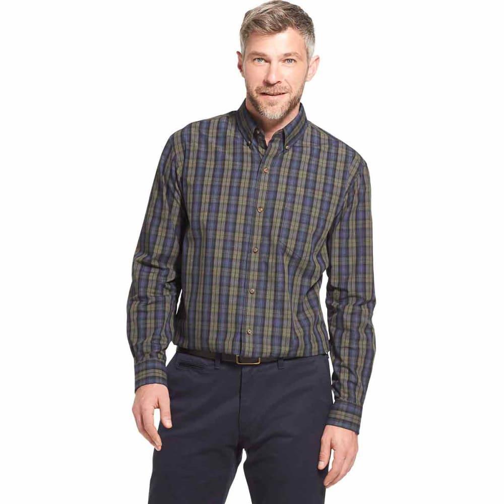 ARROW Men's Blazer Plaid Poplin Woven Long-Sleeve Shirt - ROSIN HTR - 301