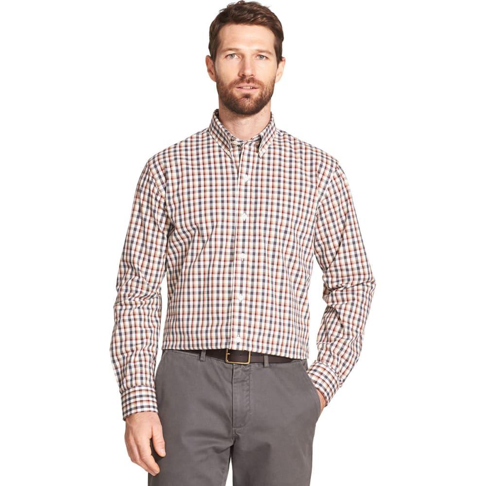 ARROW Men's Hamilton Plaid Poplin Long-Sleeve Shirt - STAR WHITE -112
