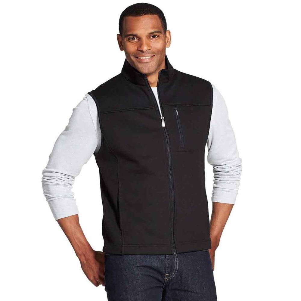 VAN HEUSEN Men's Traveler Honeycomb Full-Zip Vest - BLACK -001