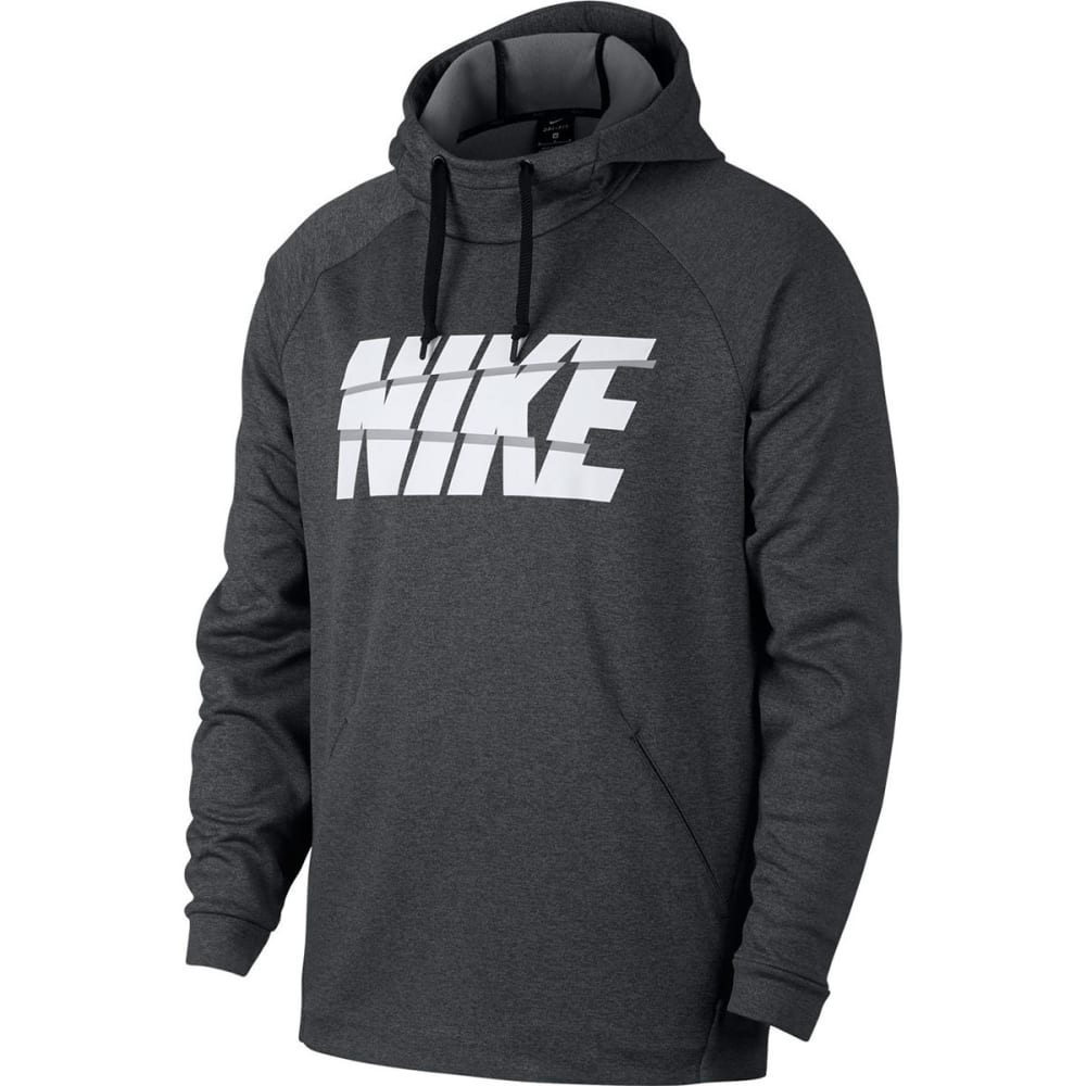 NIKE Men's Graphic Therma Pullover Hoodie - Charcoal-071