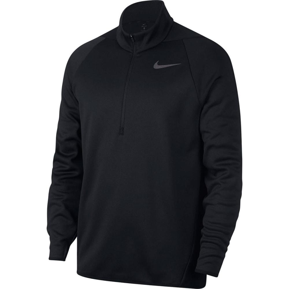 NIKE Men's Therma-FIT Quarter-Zip Pullover - BLACK-010