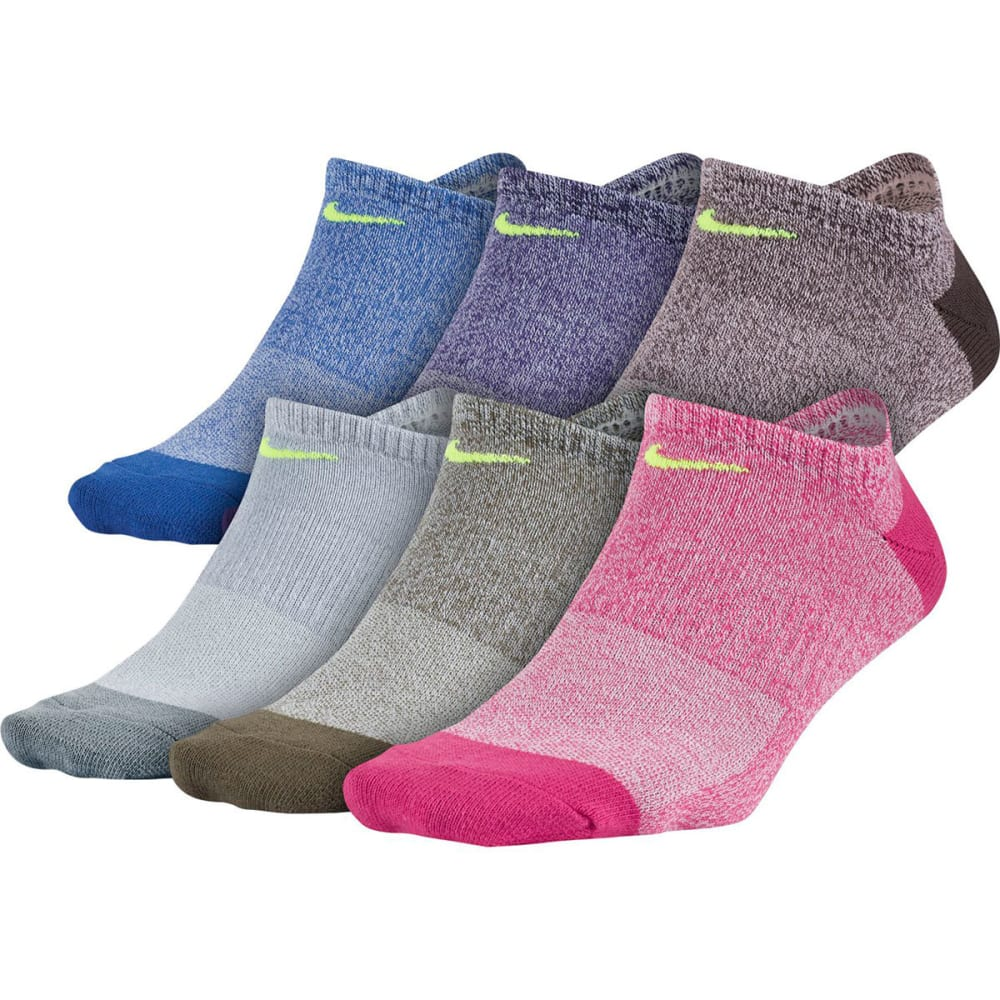 NIKE Women's Performance Lightweight No-Show Training Socks, 6-Pack M