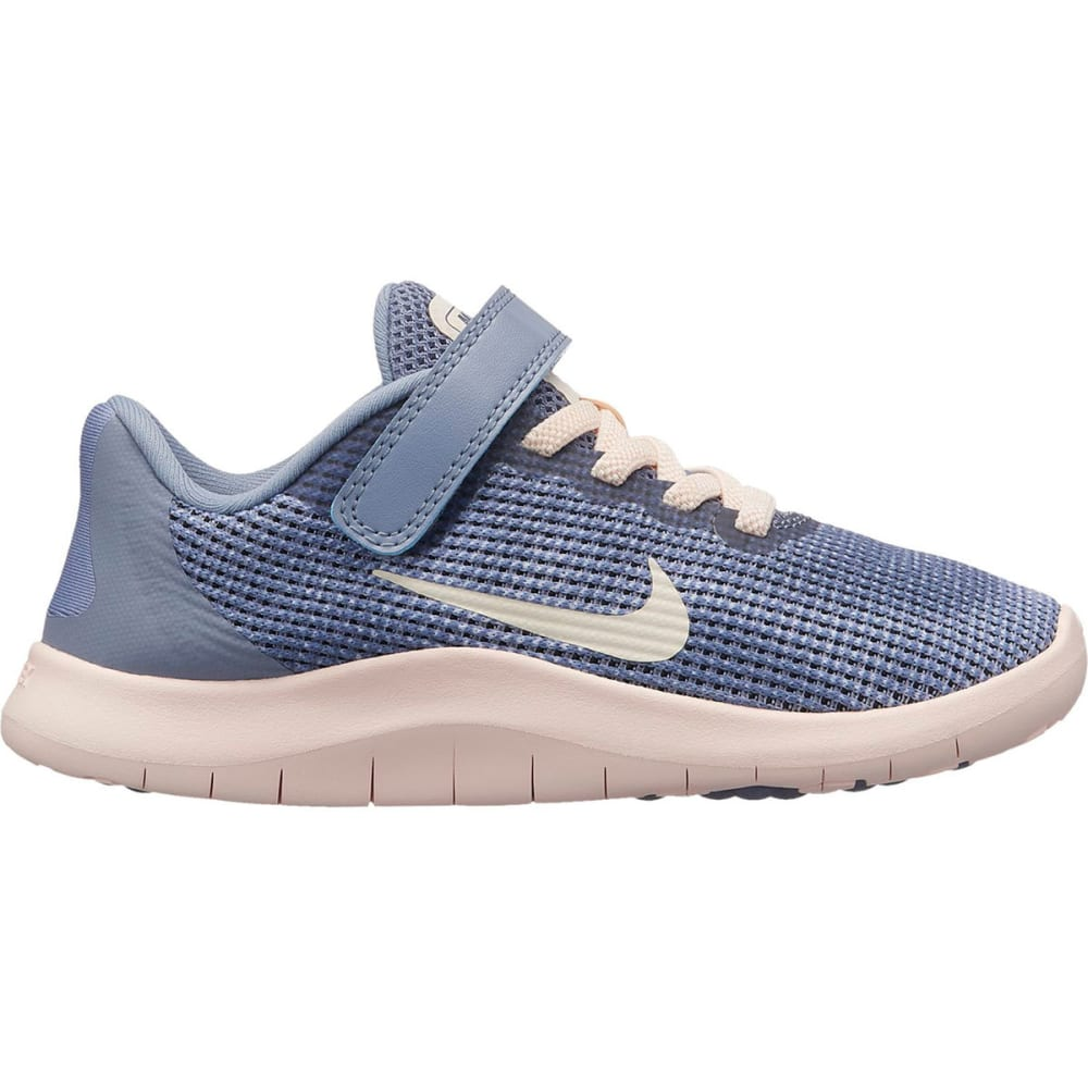 NIKE Little Girls' Preschool Flex RN 2018 Running Shoes - ASHEN SLATE-400