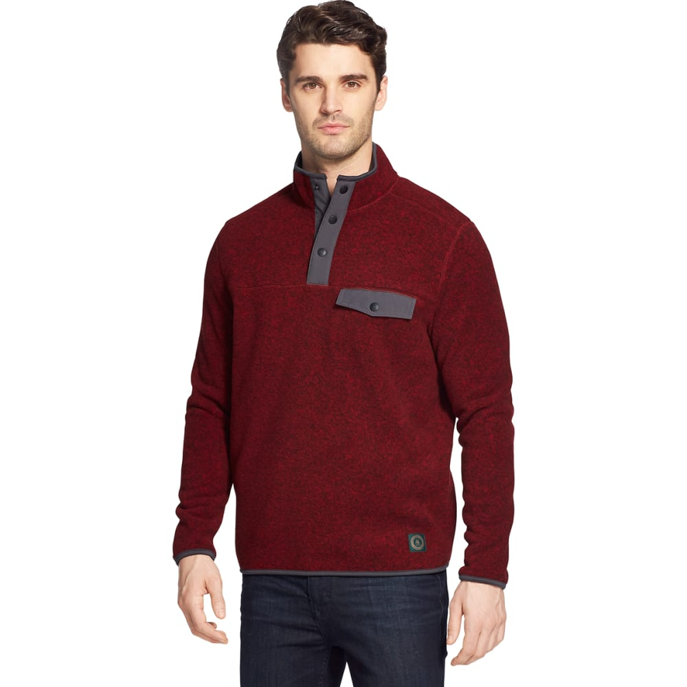 G.H. BASS & CO. Men's Arctic Fleece Snap Placket Pullover XL