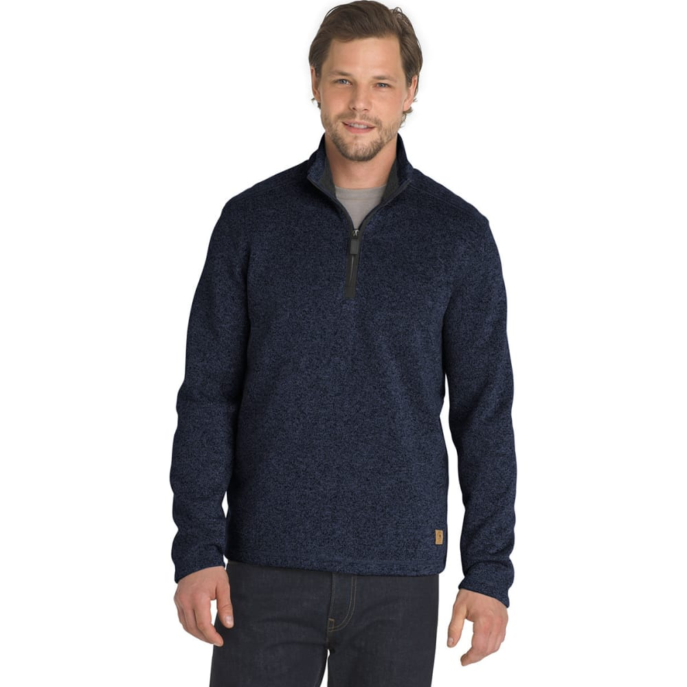 G.h. Bass & Co. Men's Madawaska 1/4 Zip Fleece Pullover - Blue, M