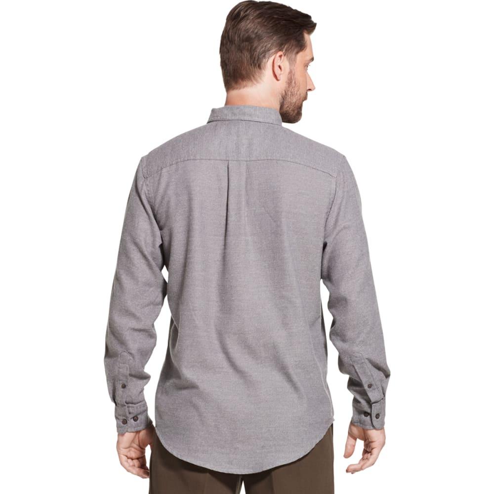 G.H. BASS & CO. Men's Jaspe Solid Long-Sleeve Flannel Shirt - CASTLEROCK HTR -065