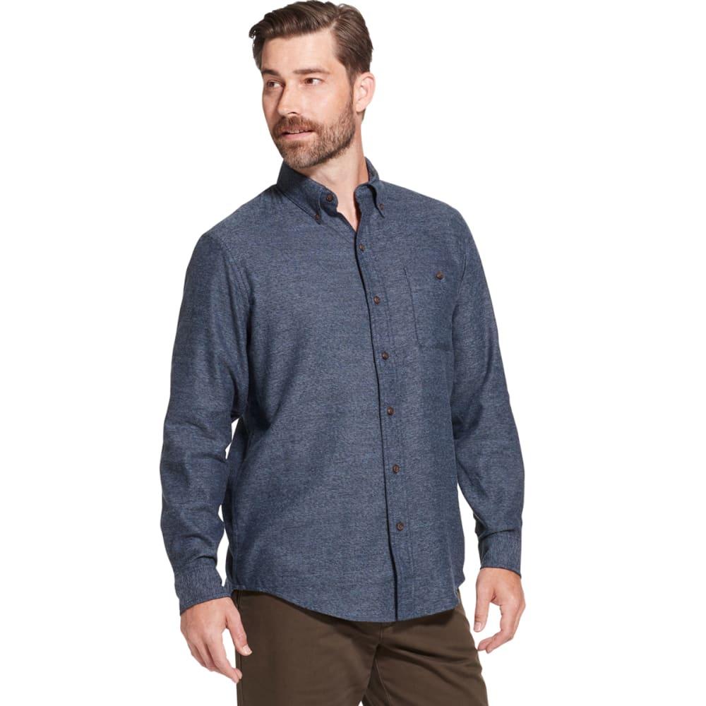 G.H. BASS & CO. Men's Jaspe Solid Long-Sleeve Flannel Shirt XL