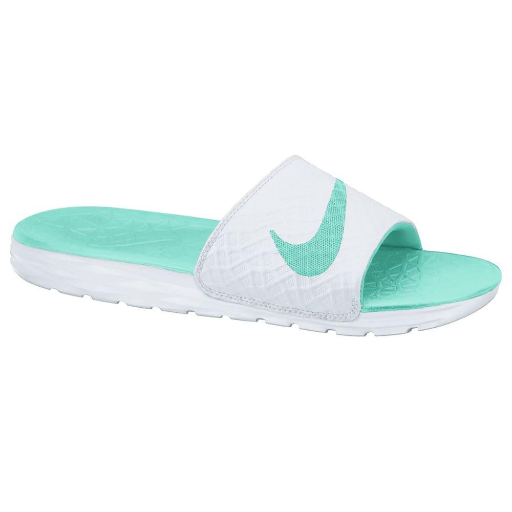 NIKE Women's Benassi Solarsoft 2 Slide Sandals - WHITE-130
