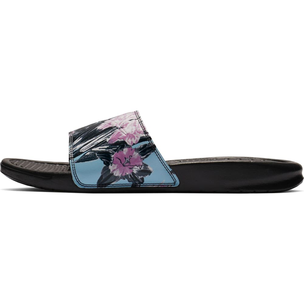 NIKE Women's Benassi Just Do It Slide Sandals - ANTHRACITE/PINK-026