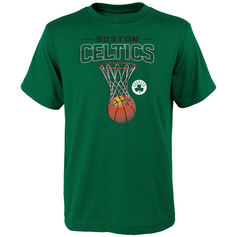 BOSTON CELTICS Big Boys' Full Net Short-Sleeve Tee - GREEN