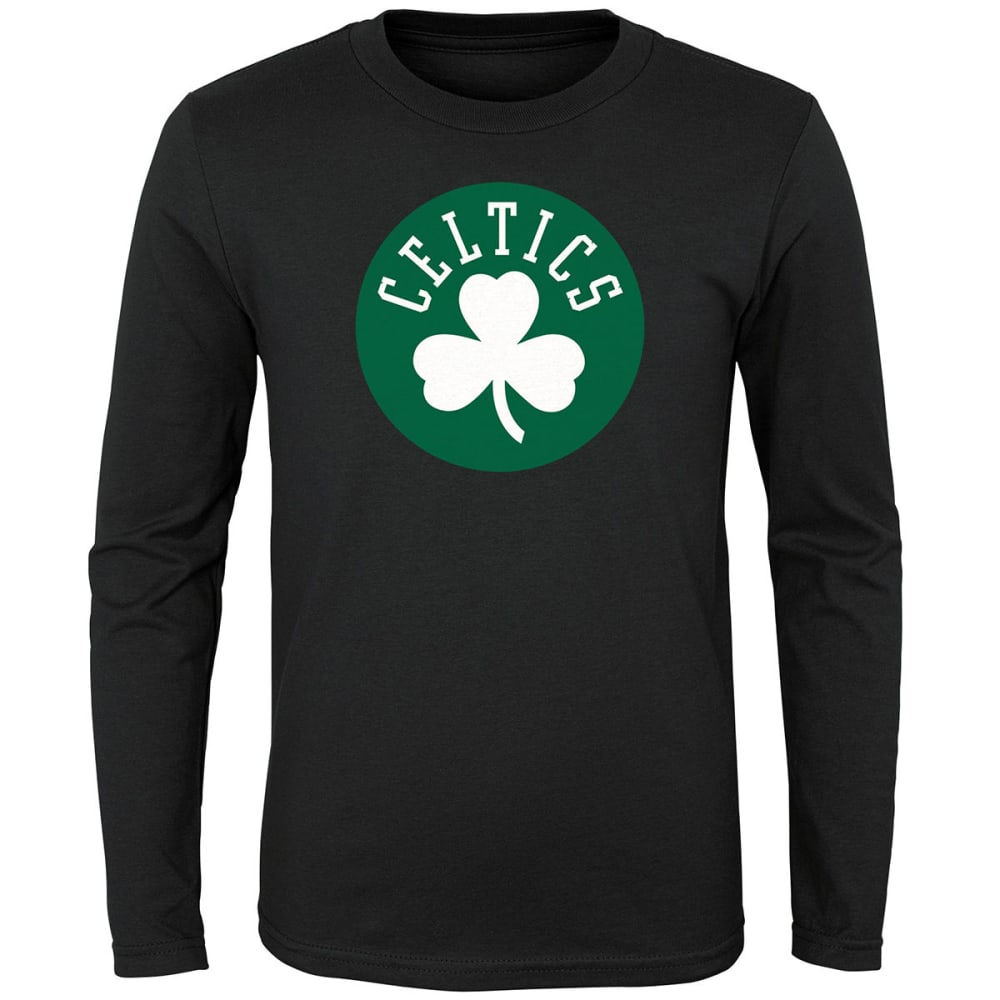 BOSTON CELTICS Boys' Primary Logo Long-Sleeve Tee L