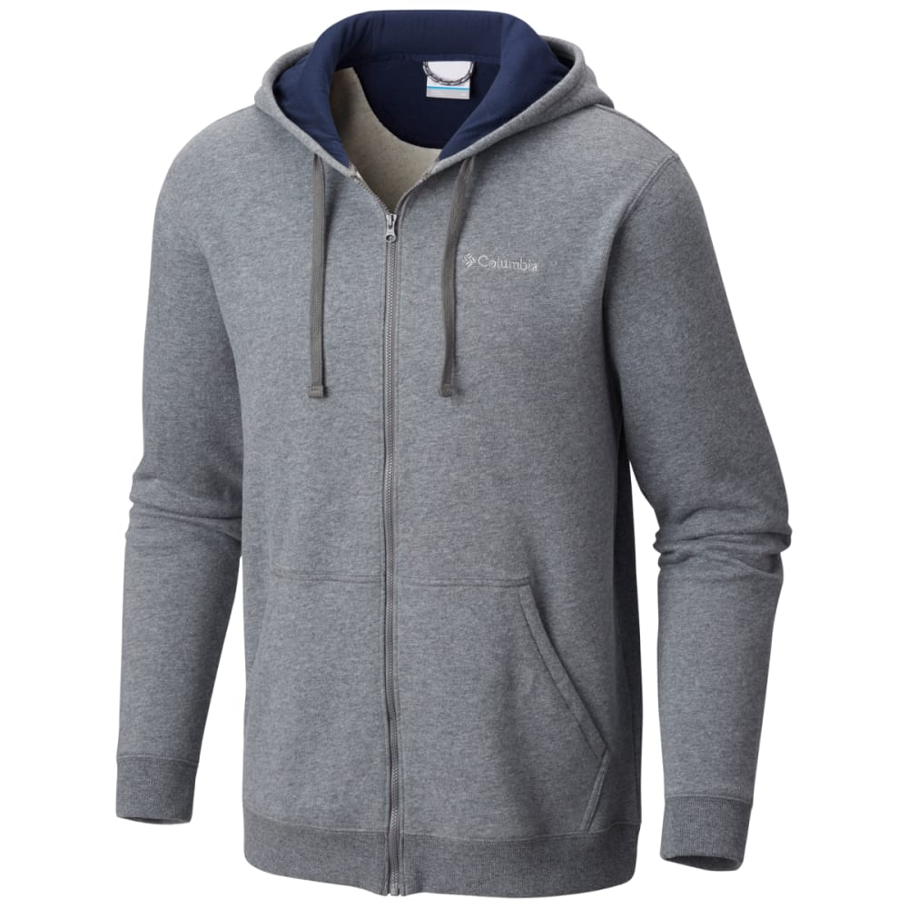 COLUMBIA Men's Hart Mountain Full Zip Hoodie - CHARCOAL HTR -030
