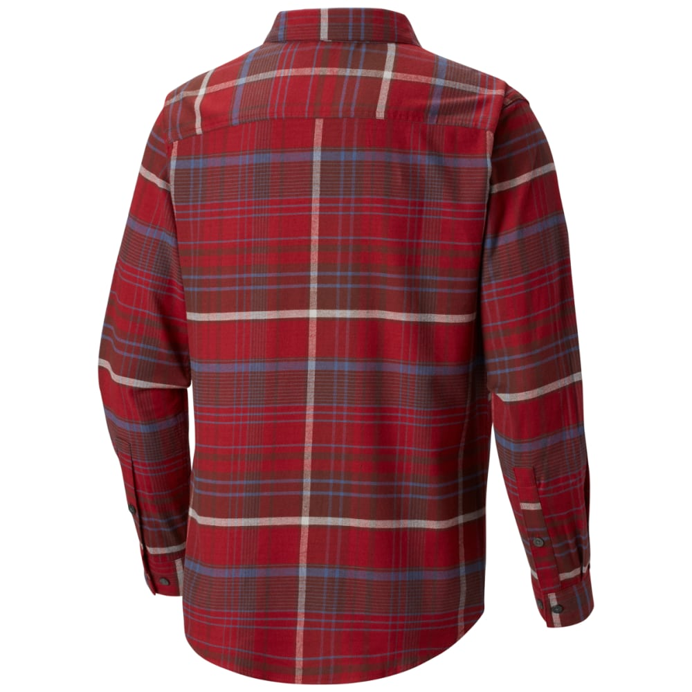 COLUMBIA Men's Cornell Woods Flannel Long-Sleeve Shirt - RED ELEMENT -612