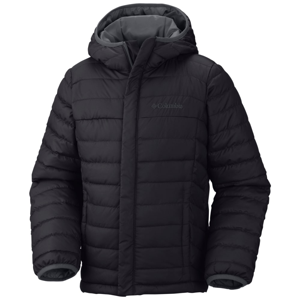 COLUMBIA Boys' Powder Lite Puffer Jacket - BLACK-010