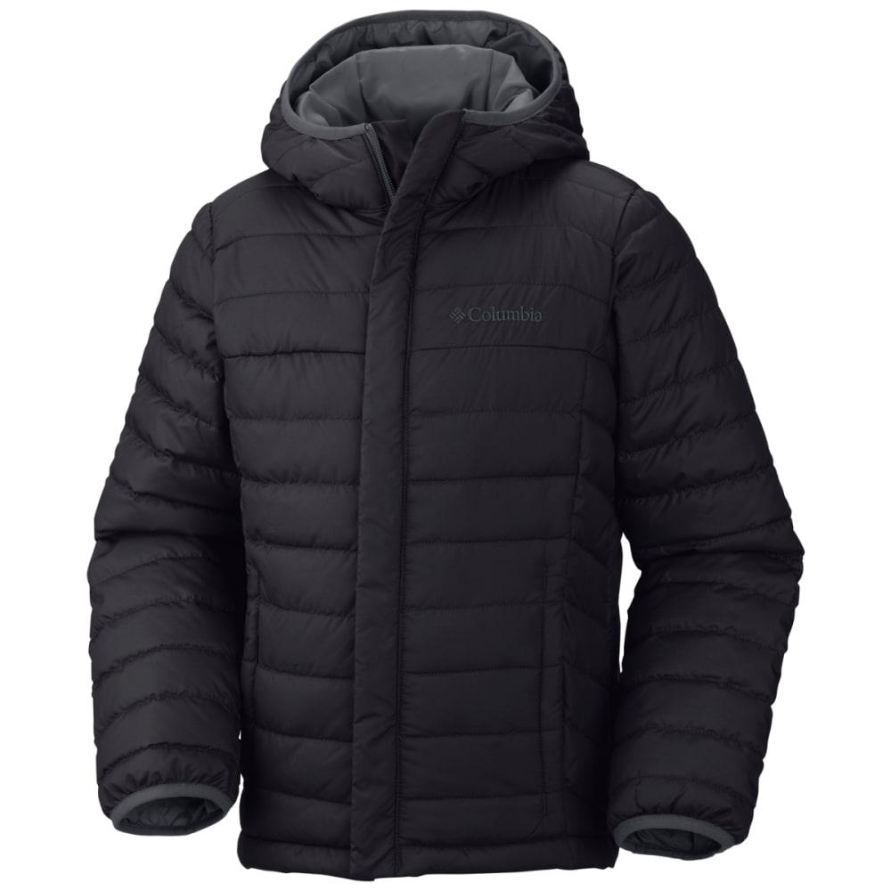 Columbia Boys' Powder Lite Puffer Jacket - Black, S