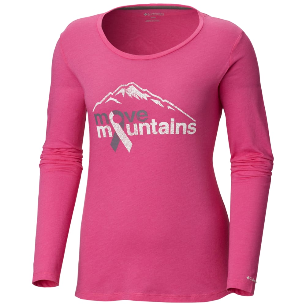 Columbia Women's Tested Tough In Pink Long-Sleeve Tee - Red, XL