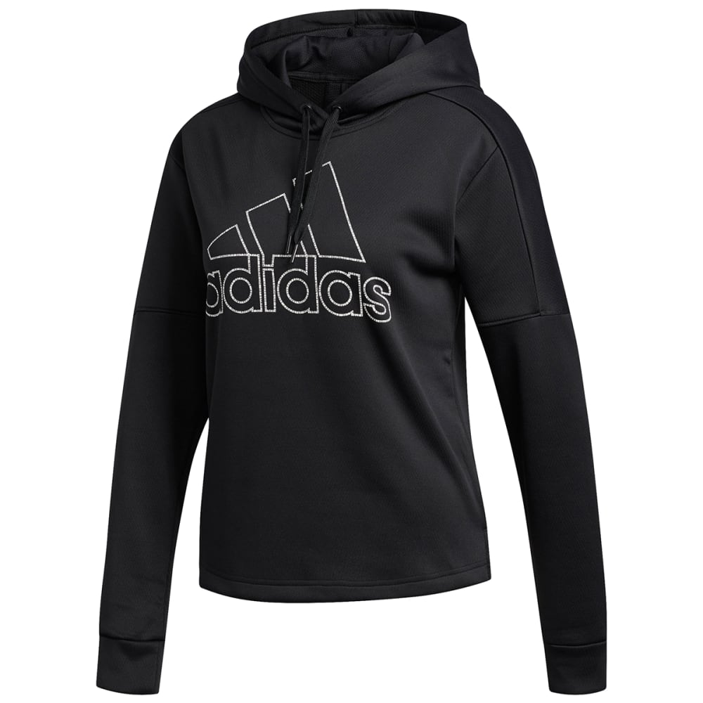 ADIDAS Women's Team Issue Badge of Sport Pullover Hoodie - BLACK-DH8189