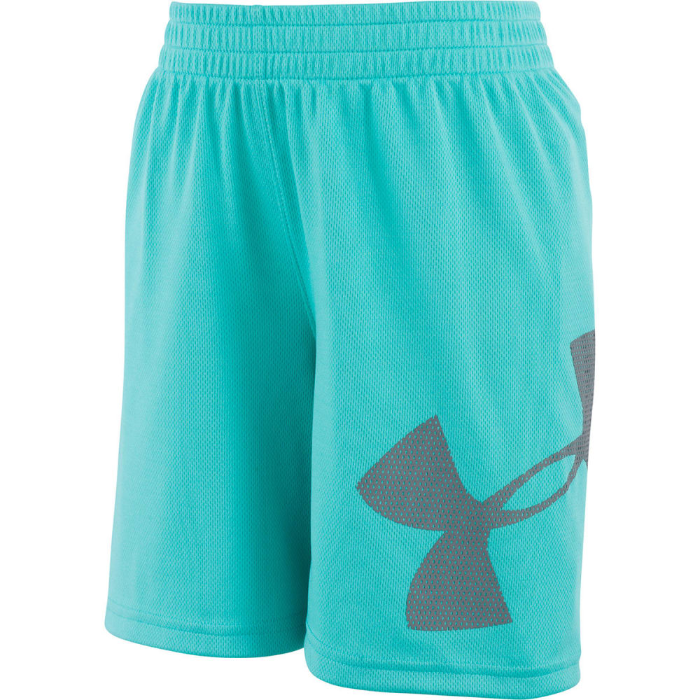 UNDER ARMOUR Little Boys' Zoom Striker Shorts - TEAL PUNCH-49