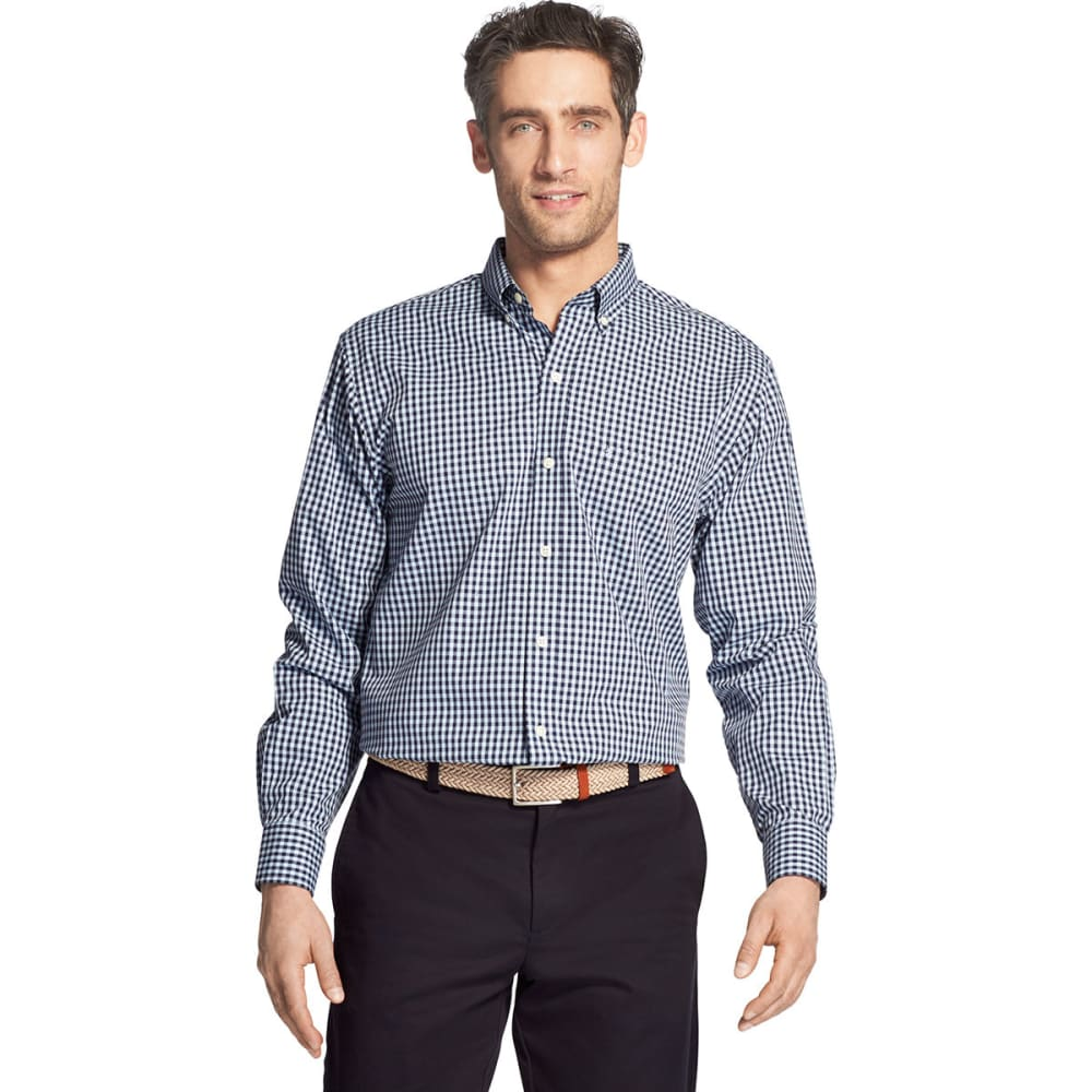 Izod Men's Essential Premium Woven Long-Sleeve Shirt - Blue, XL