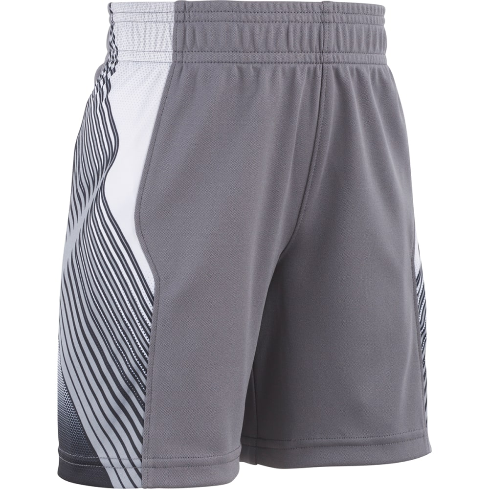 UNDER ARMOUR Little Boys' UA Space the Floor Basketball Shorts - GRAPHITE-03