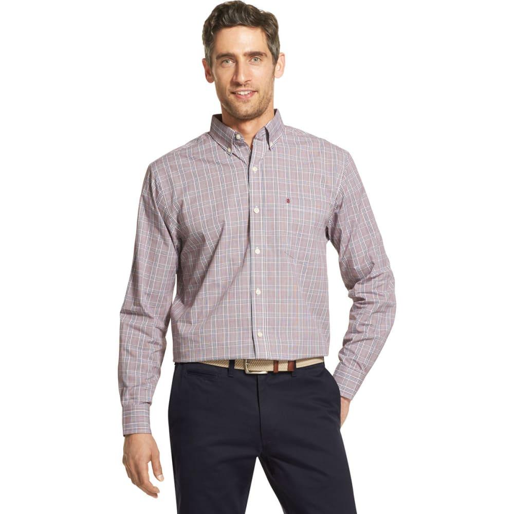 Izod Men's Essential Premium Woven Long-Sleeve Shirt - Purple, M
