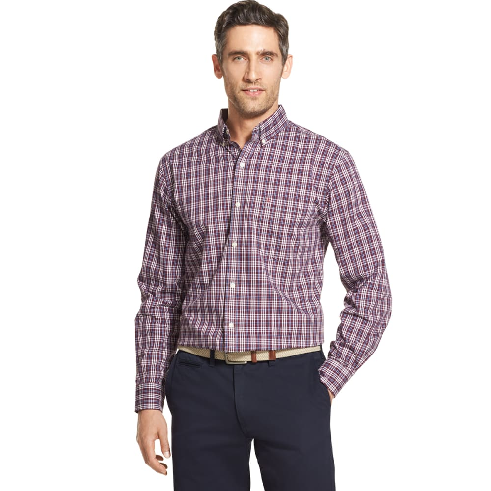 IZOD Men's Essential Premium Woven Long-Sleeve Shirt - FIG -#505