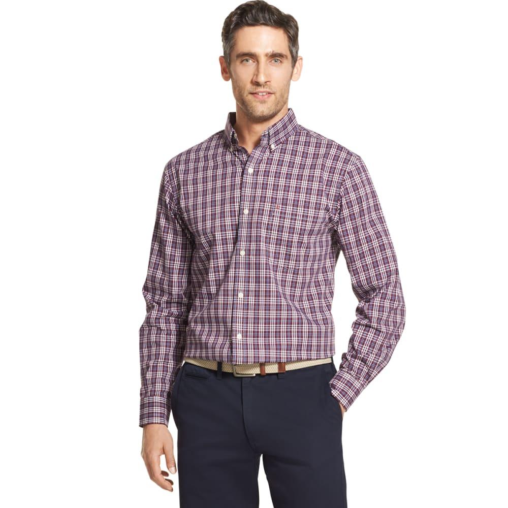 Izod Men's Essential Premium Woven Long-Sleeve Shirt - Purple, XXL