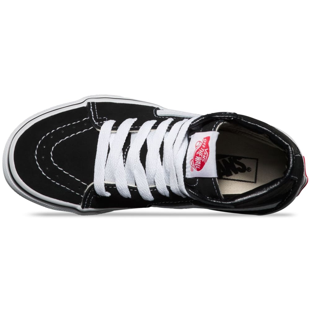 VANS Kids' Sk8-Hi Skate Shoes - BLACK/WHITE