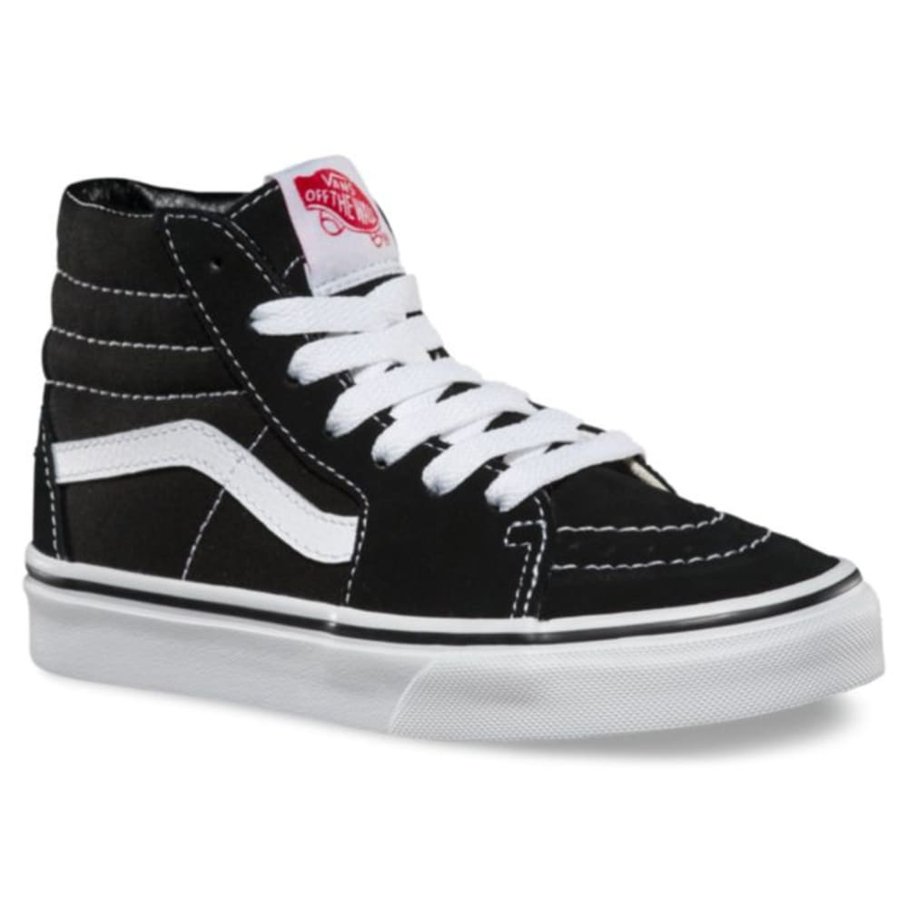 VANS Kids' Sk8-Hi Skate Shoes - BLACK/WHITE