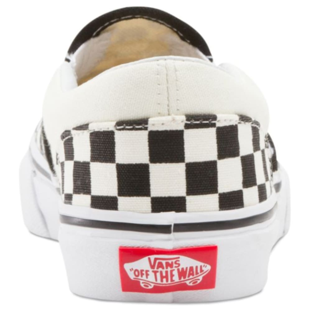 VANS Kids' Checkerboard Classic Slip-On Casual Shoes - BLK/WHT CHECK