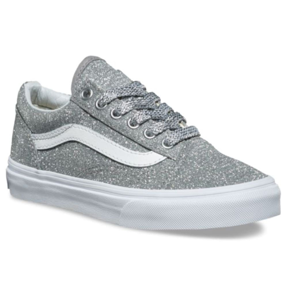 VANS Kids' Old Skool Lurex Glitter Skate Shoes - SILVER GLITTER