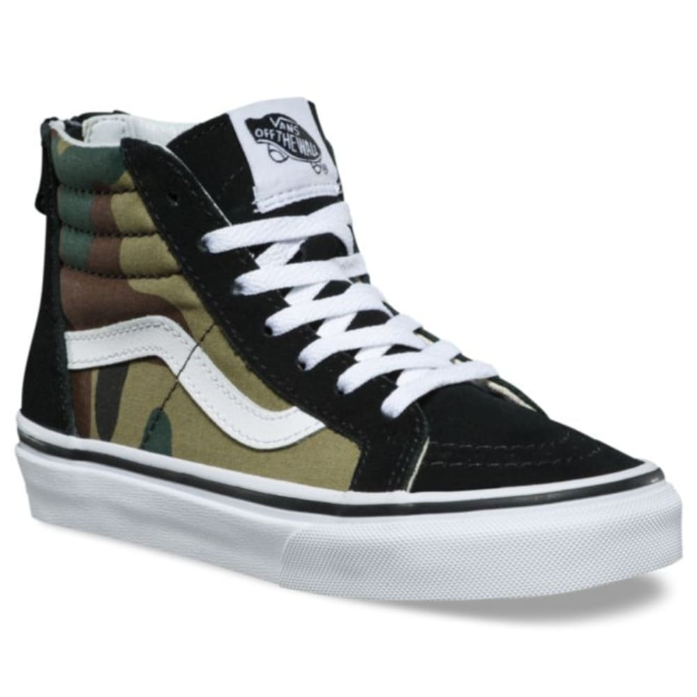 VANS Kids' Sk8-Hi Zip Skate Shoes - CAMO
