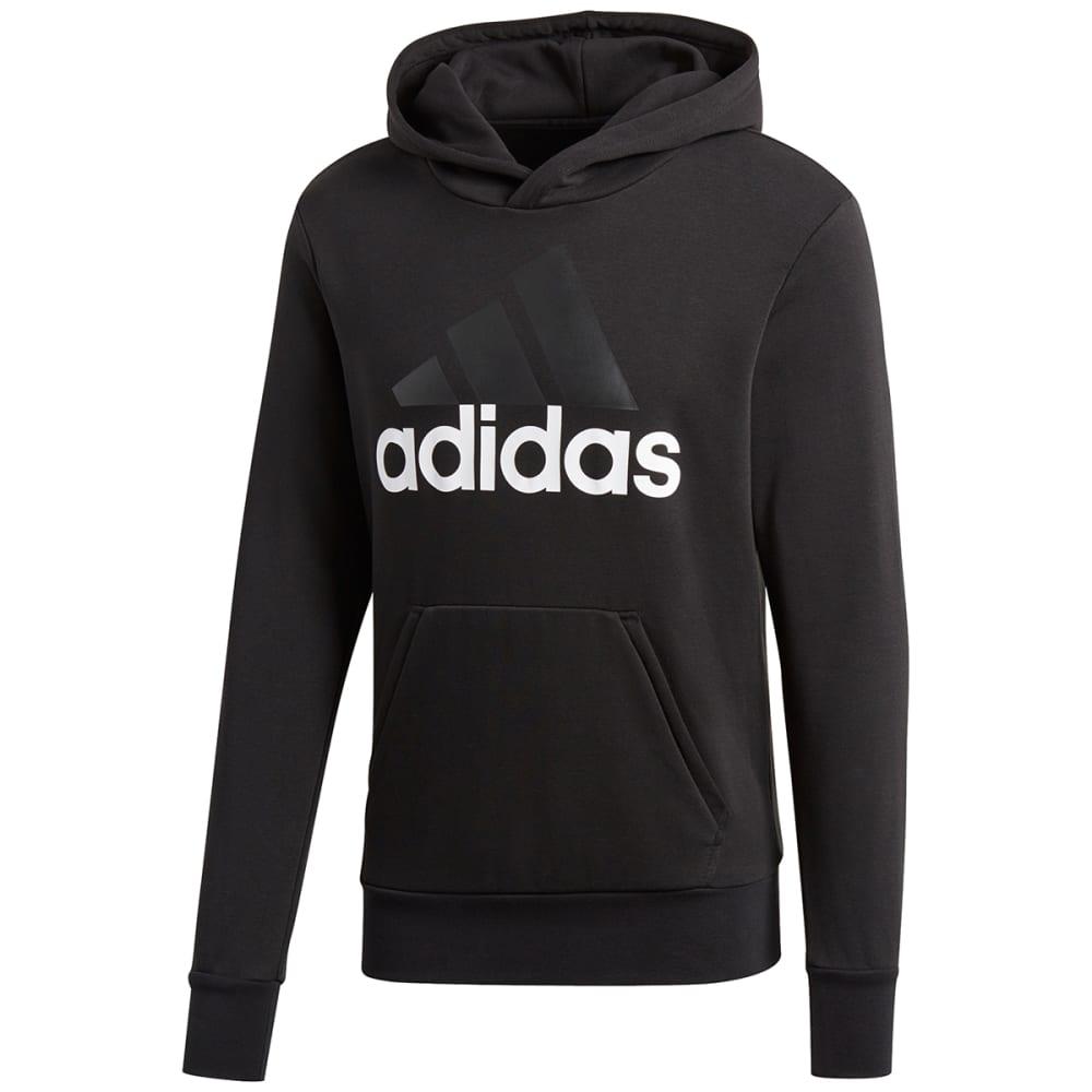 24d9e300f ADIDAS Men's Essentials Linear Pullover Hoodie - BLACK-S98772