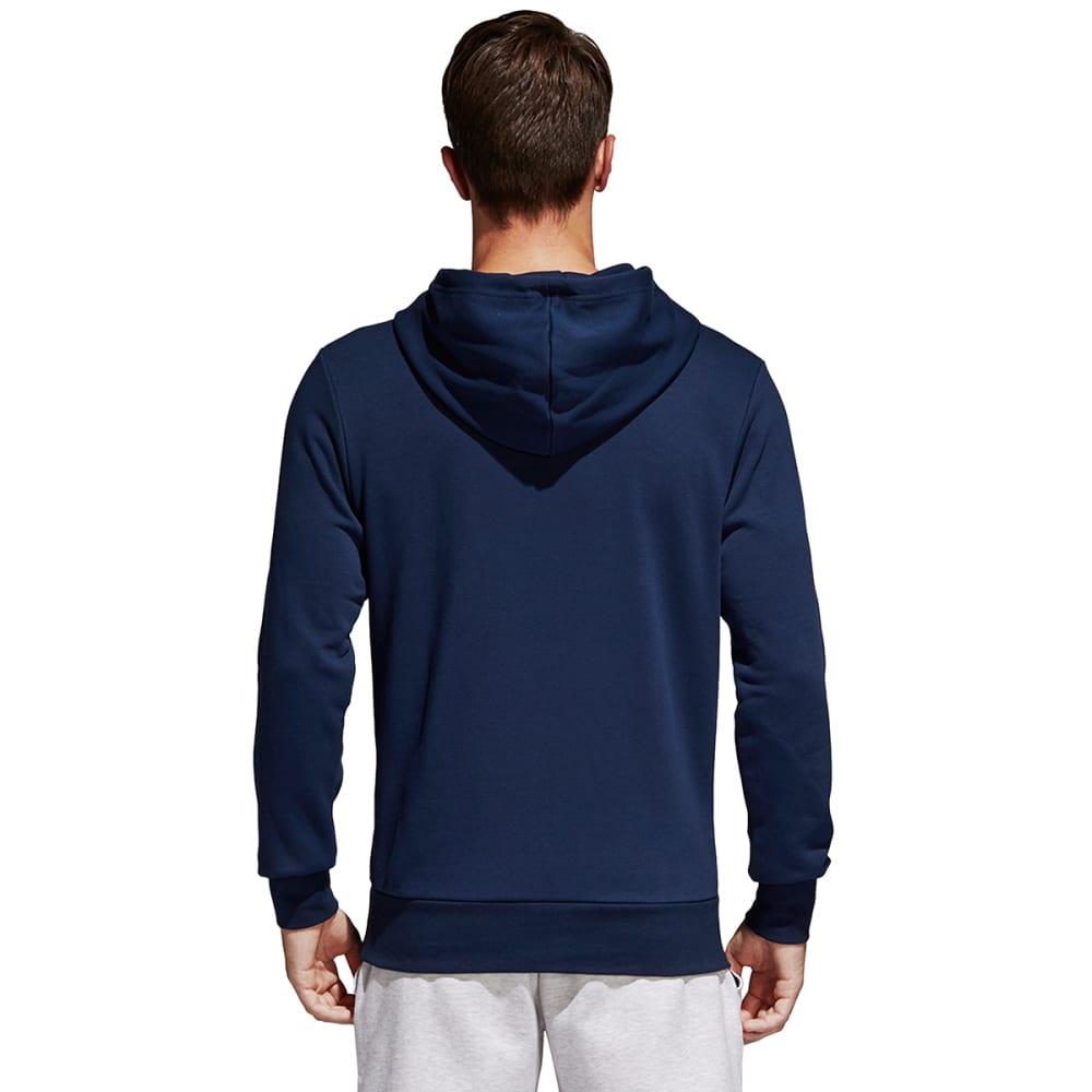 ADIDAS Men's Essentials Linear Pullover Hoodie - NAVY-B45730