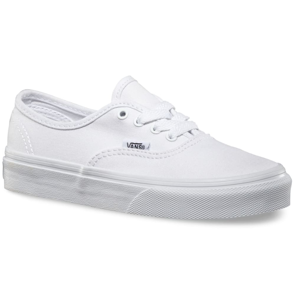 Vans Kids' Authentic Skate Shoes - White, 12