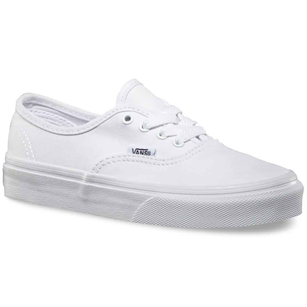 VANS Kids' Authentic Skate Shoes - WHITE